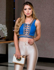 Cropped  Azul Cropped 6363